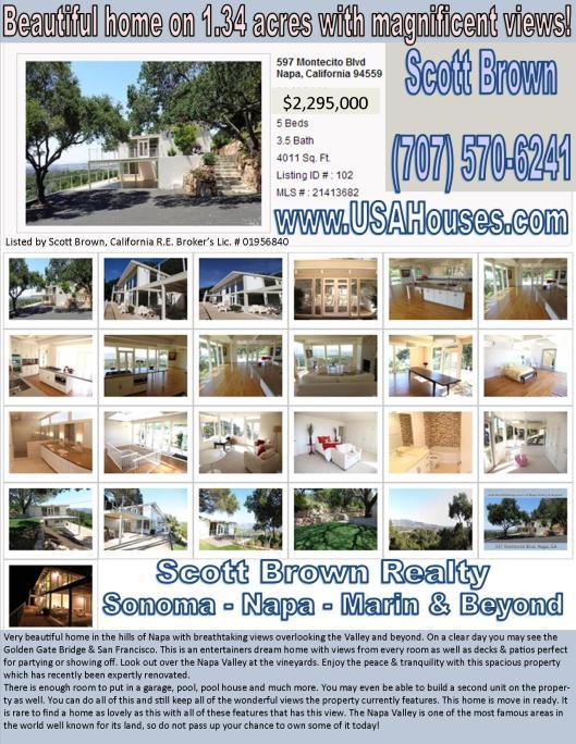597 Montecito Blvd Napa CA